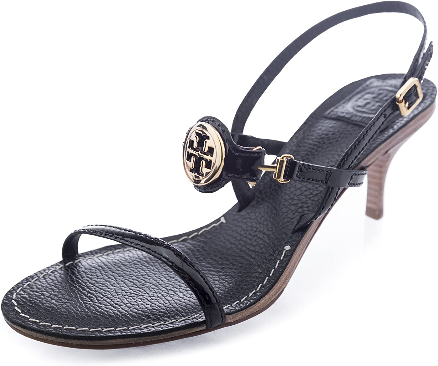 Tory Burch Mira Patent Sandals 9 Black