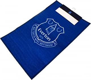 Everton FC Official Soccer Crest Rug (One Size) (Blue/White)