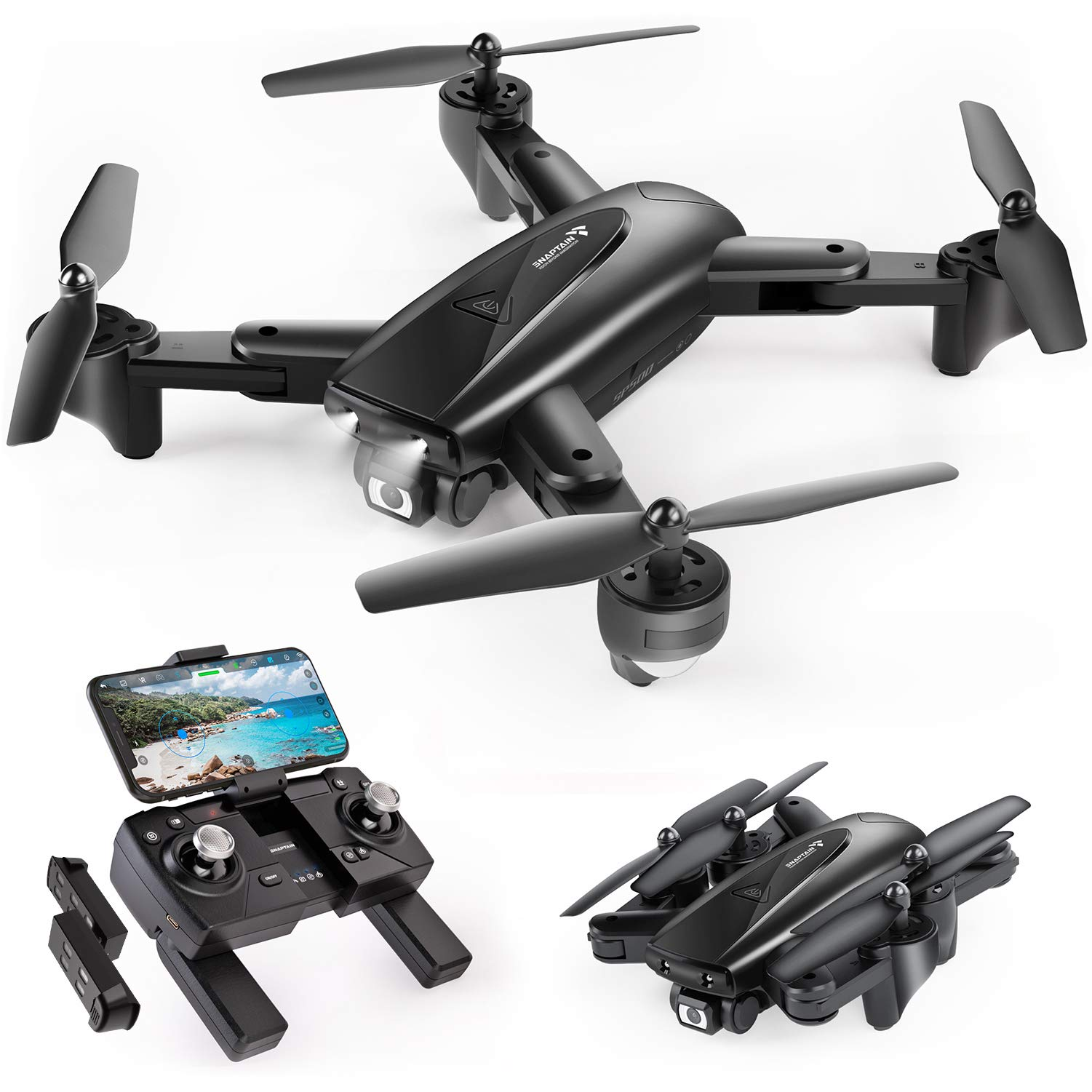 SNAPTAIN Foldable Beginners Quadcopter Transmission