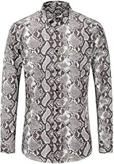 Hoodie Sweatshirt for Men Snakeskin Patter Print Autumn Pullover Tops Blouse Long Sleeve Hoodies Outwear WEI MOLO
