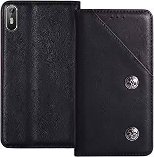 YLYT Book Stand Shockproof - Black Flip Leather Retro Cover With Stand Wallet Case For Coolpad Note 6 5.5 inch Card Slots
