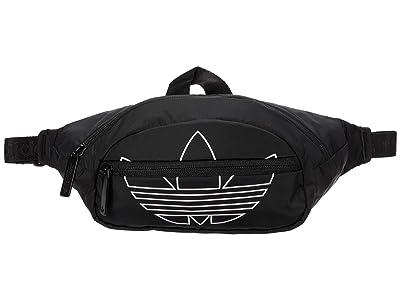 adidas Originals Originals National Waist Pack (Black/White) Handbags