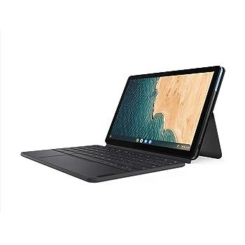 Lenovo Chromebook Duet 2-in-1 10.1 WUXGA (1920 x 1200) Display, MediaTek Helio P60T, 4GB LPDDR4X RAM, 64GB SSD, Integrated ARM G72 MP3 Graphics, Chrome OS, ZA6F0031US, Ice Blue+Iron Grey (Renewed)