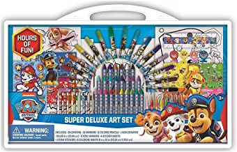 Paw Patrol Super Deluxe Art Supplies Set w/ Coloring Pages, Stampers, &
