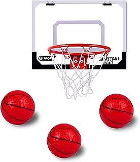 Bigzzia Indoor Basketball Hoop Includes 3 Mini Basketballs & Hand Pump with Needle for Door Wall Kids Adults Indoor Play
