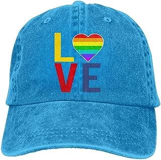 Unisex LGBT Gay Pride Love Denim Jeanet Baseball Cap Adjustable Outdoor Sports Cap for Men Or Women