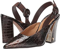 Dark Brown Croco Patent