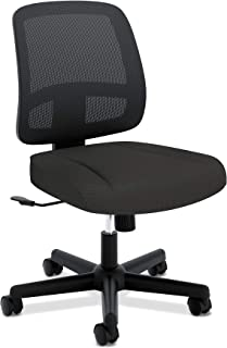 HON ValuTask Task Chair, Mesh Back Computer Chair for Office Desk, Black (HVL205)