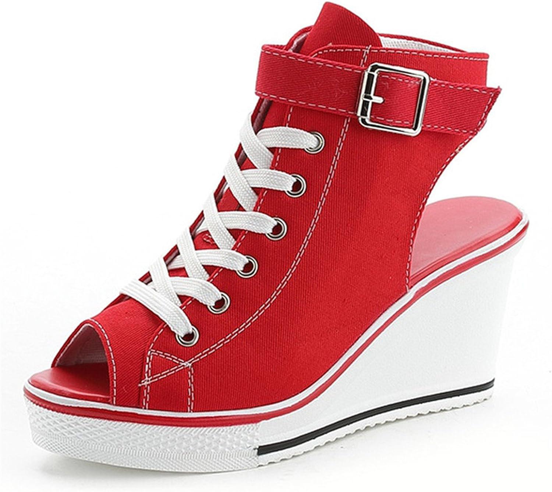 Ladiamonddiva Sandals Pumps New Ladies Platform Sandals Summer Open Toe Sandals Women's shoes Slope with Platform Wedge Sandals Pink Black White Red