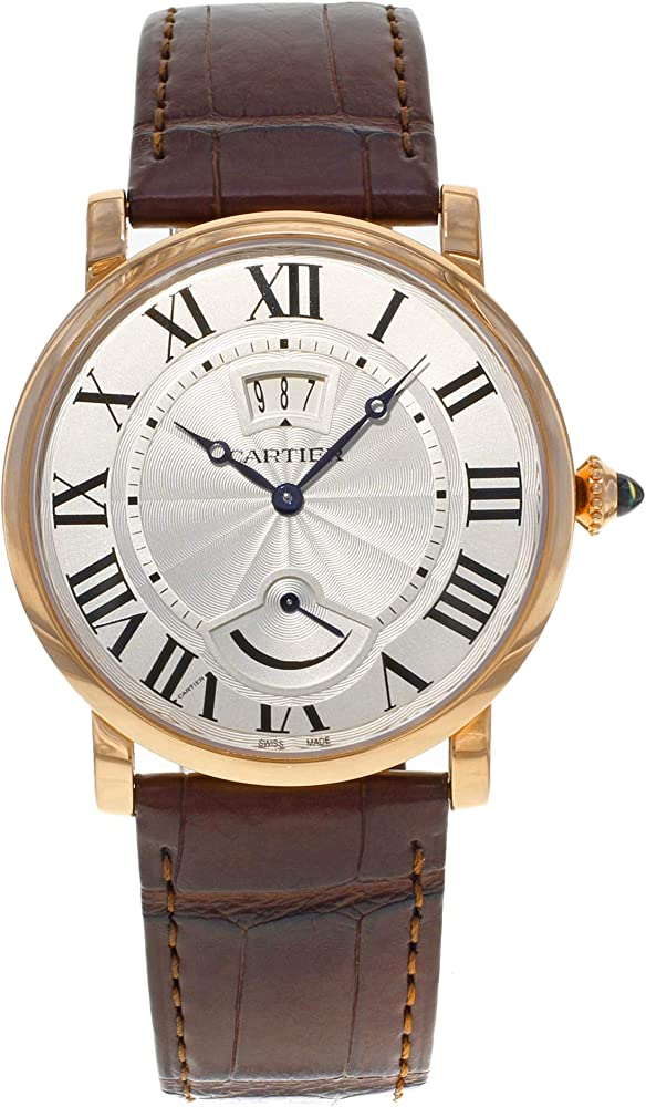 Cartier rotonde orologio automatico,cassa in oro rosa 18 carati corona perlata in oro rosa 18 carati W1556252
