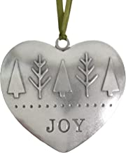 product image for Beehive Handmade Joy Heart Shaped Pewter Ornament