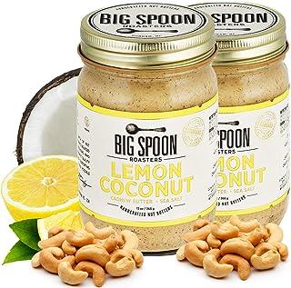 Big Spoon Roasters Lemon Cashew Butter with Sea Salt - Keto Friendly - Low Sugar - Natural Ingredients - Vegan Gourmet Nut...