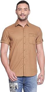 Mufti Solid Half Sleeves Shirt