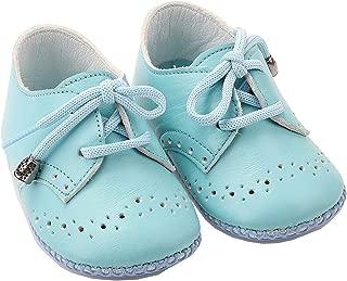 Bağcıklı Deri Bebek Ayakkabısı Turkuaz