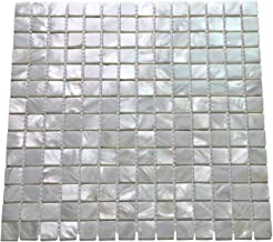 Art3d Oyster Mother of Pearl Square Shell Mosaic Tile for Kitchen Backsplashes, Bathroom Walls, Spas, Pools 12