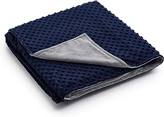 RelaxBlanket Duvet Cover-Weighted Heavy Blanket Home (Grey/Navy -Minky Dot, 48''x78'' Duvet Cover)