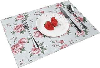 Set De Table 4 Pcs, Napperons Lavable, Antidérapant, Tapis De Table Résistant à La Chaleur, Table à Manger Cuisine Ou Sall...