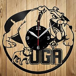 Georgia Bulldogs UGA Art Decor Home Wall Clock Black Original Gift Unique Design