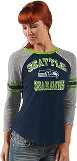 G-III Sports Seattle Seahawks Women's On The Field 3/4 Sleeve Raglan T-Shirt