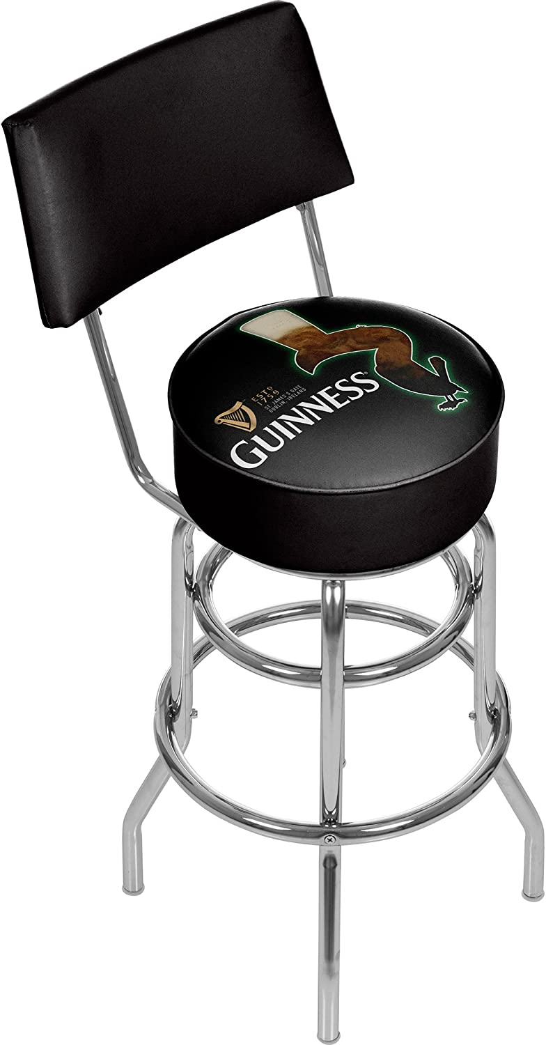 Trademark Gameroom Guinness Swivel bar Stool with Back  Feathering