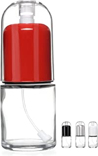 Premium Olive Oil Mister and Cooking Sprayer with Clog-Free Filter and Glass Bottle by CHEFVANTAGE - Red