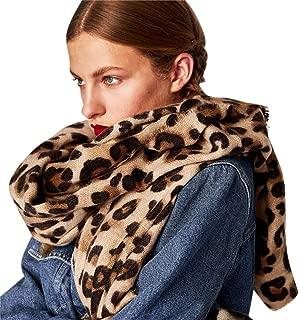 Bestag Leopard Printed Scarf Women Blanket Scarf Warm Pashmina Scarfs