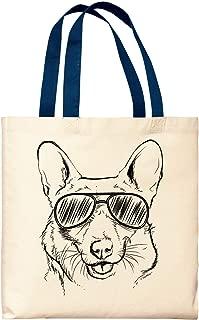 Dog Tote Bags Corgi Wearing Sunglasses Corgi Bag Dog Lover Gift Corgi Dog Owner Gift Canvas Tote Bag