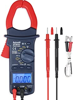 AstroAI Digital Clamp Meter, TRMS 6000 Counts Multimeter Volt Amp Ohm Meter with Manual..