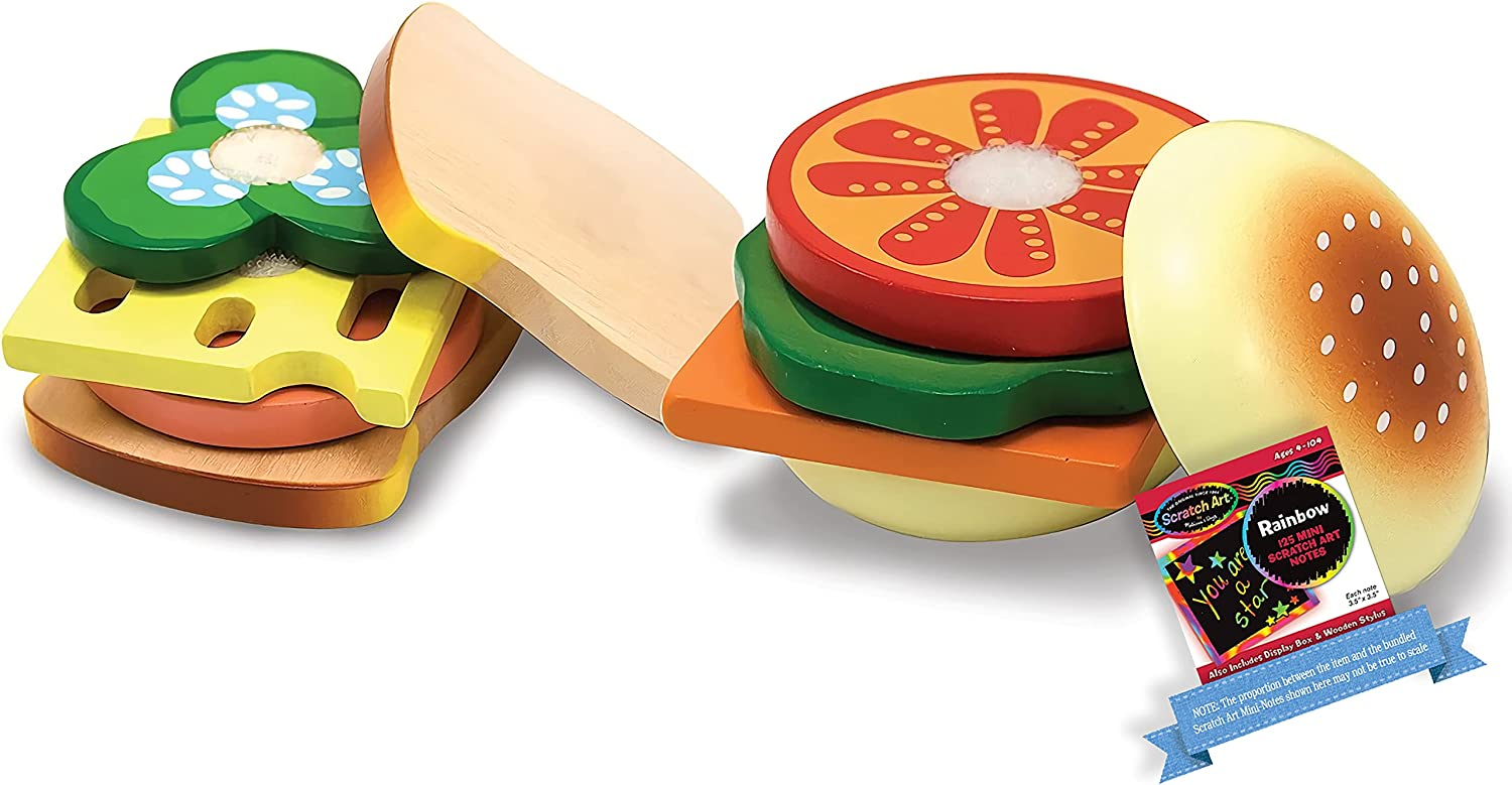 Our shop OFFers the best service Bombing new work Melissa Doug Wooden Sandwich Making Food Set 1 Play Scratch