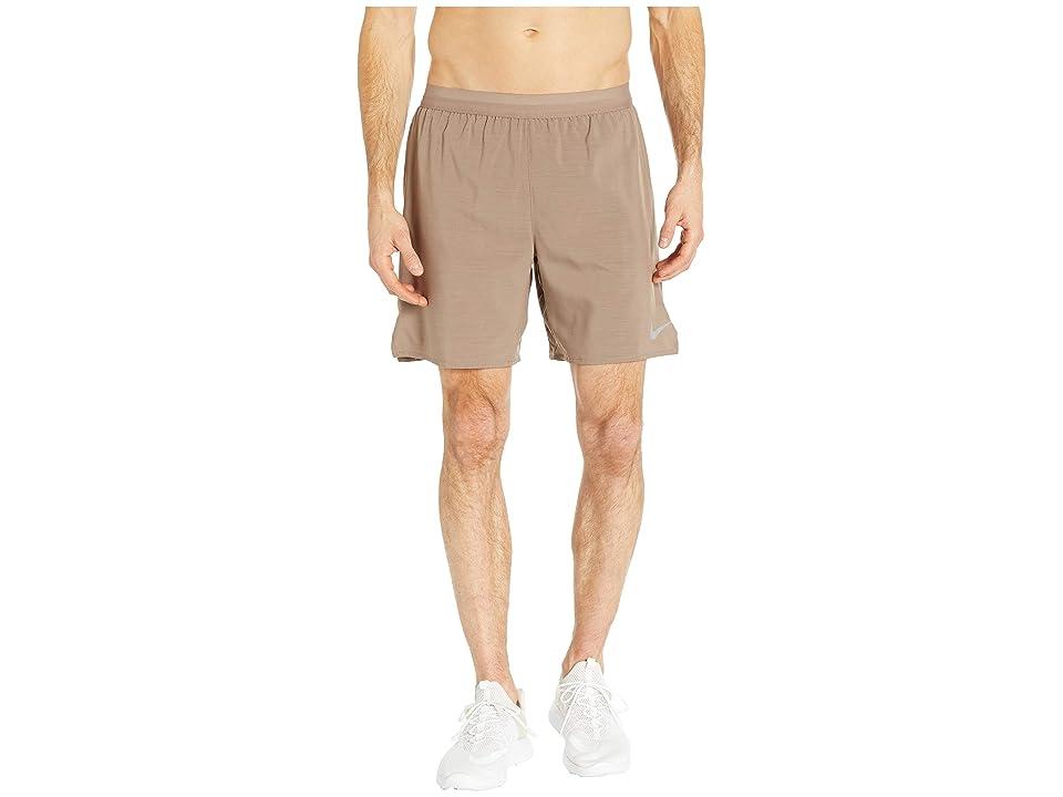 Nike Flex Distance 7 Lined Running Short (Mink Brown/Desert Sand/Heather) Men
