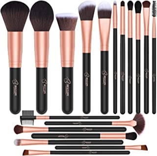 BESTOPE 18 Pcs Makeup Brush Set Premium Synthetic Fan Foundation Powder Kabuki Brushes Concealers Eye Shadows Make Up Brus...