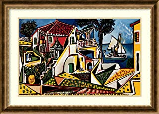 Framed Wall Art Print Paysage Mediterraneen by Pablo Picasso 36.88 x 26.62