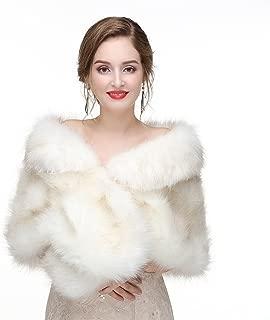 silver faux fur shawl