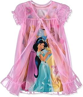 9e0443dc8 Disney Girls' Toddler Multi-Princess Nightgown with Peignoir