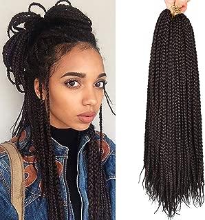 Alileader 6Packs 20Inch Box Braids Crochet Braids Mambo Twist Braiding Hair 22roots Synthetic Kanekalon Jumpo Box Braids Brading Hair Extensions (#2)