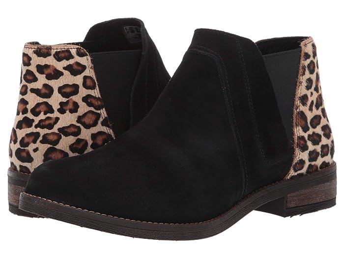 Clarks  Demi Beat (Black/Leopard Print) Womens  Boots