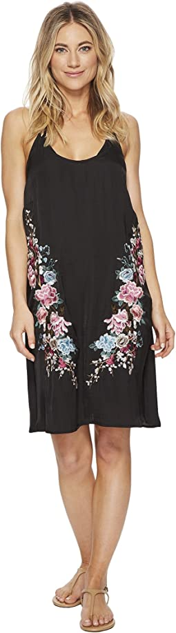 Zen Garden Embroidered Slip Dress Cover-Up
