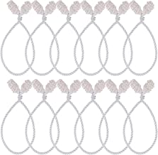 Cooraby 12 Pieces Silver Decorative Garland Ties Garland Flexible Ties for Holiday Decorations Christmas Craft Gift Wrapping