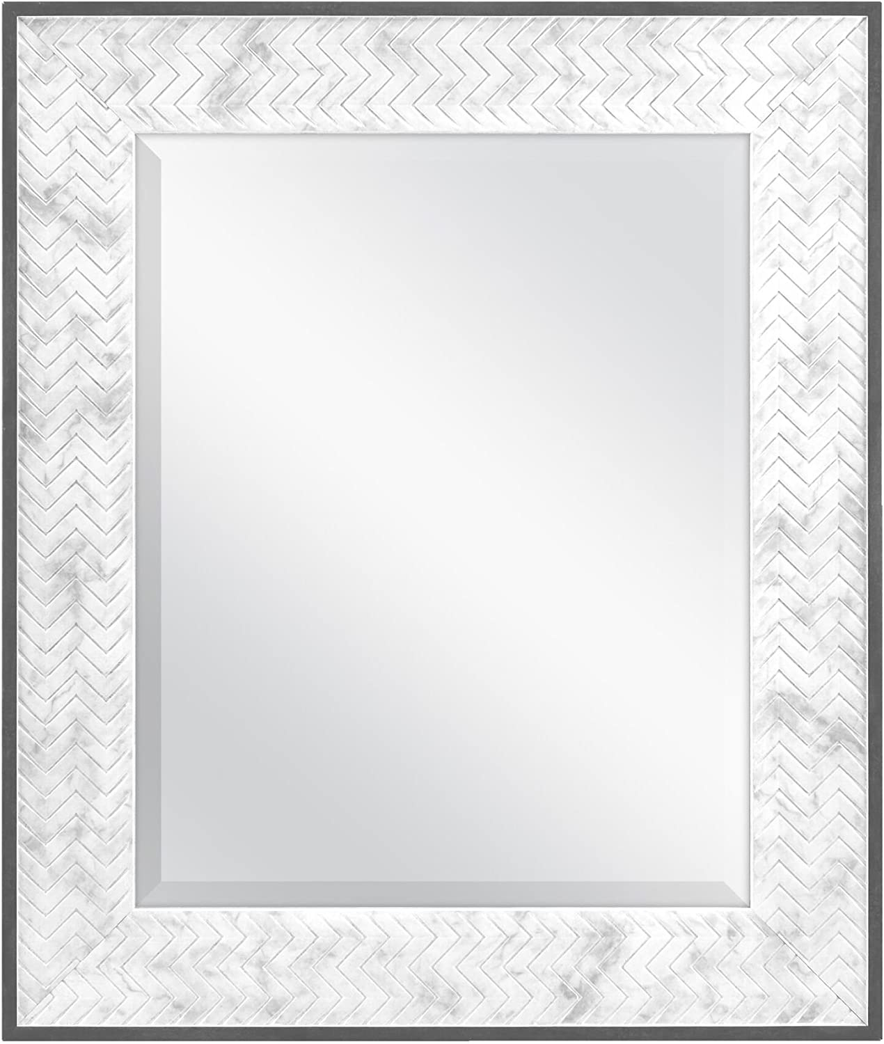 MCS 16x20 Inch Online limited product Chevron 22x26 Overall 22 Size Marble x Mirror Great interest