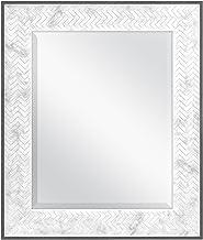 MCS 16x20 Inch Chevron, 22x26 Overall Size, Marble Mirror, 22 x 26 Inch,