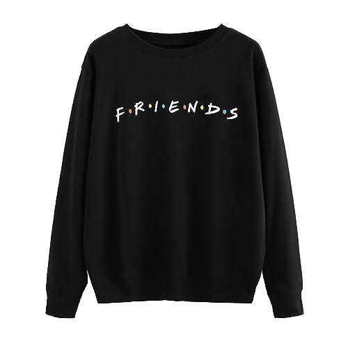 d8145823266 MISSACTIVER Women s Sweatshirt Letter Print Lightweight Pullover Top