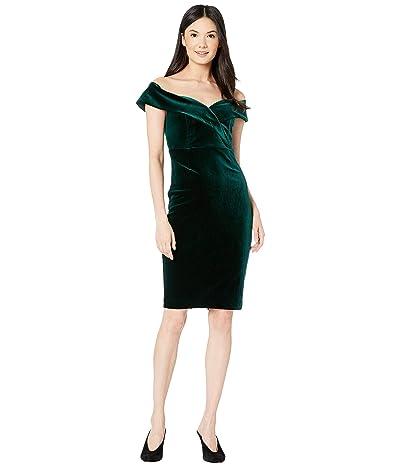 Bardot Bella Velvet Dress (Dark Green) Women