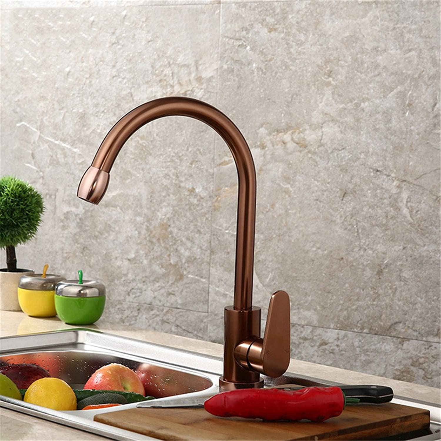 TYAW-SHOP The space aluminum faucet basin, hot and cold water kitchen table basin mixer