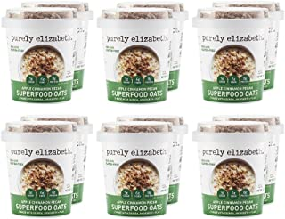 purely elizabeth, New Gluten Free Superfood Oats Single Serve Cup, Apple Cinnamon Pecan, 12 Count