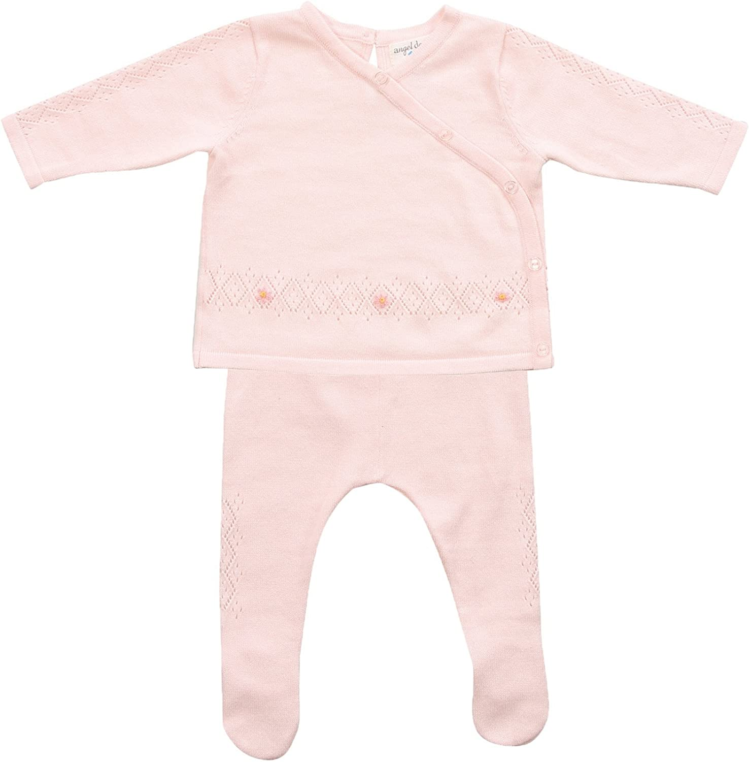 Newborn baby girl 2 pc Angel Dear body suit and pants viscose from bamboo fabric