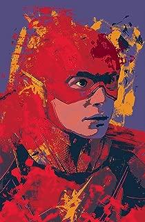 Ezra Miller Flash Abstract Splatter Paint 11 x 17 Inch Wall Art Poster