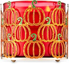3-Wick Candle Holder Compatible with White Barn Bath & Body Works 3-Wick Candles (Glittery Pumpkins)