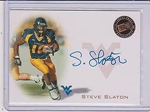 2008 Press Pass Steve Slaton West Virginia Autographed Insert Football Card #PPS-SS