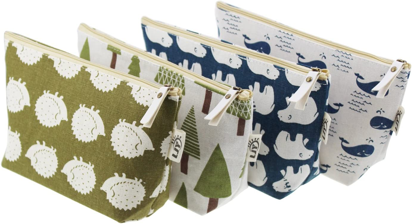 LJY Max 71% OFF 4 Pieces Assorted Large Capacity Animal and Lin Forest Easy-to-use Theme