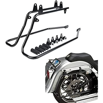 Black Saddle Bags Conversion Brackets Kit Fit For Harley Softail 1984-2013 2012